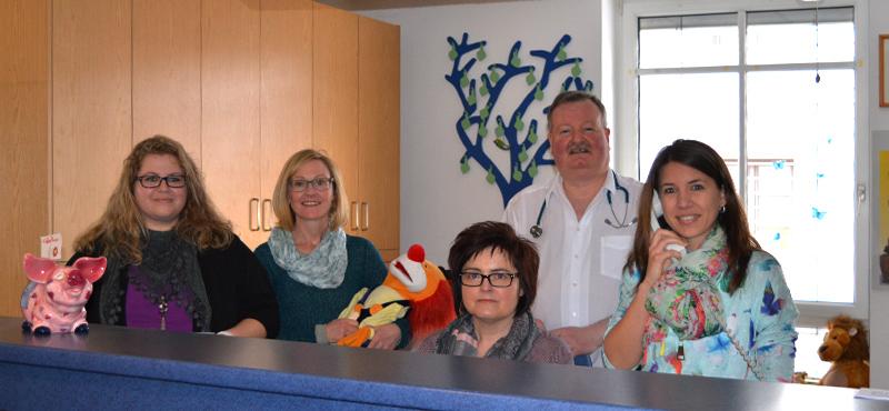 Das Team der Kinderarztpraxis Dr. Renner Deggendorf